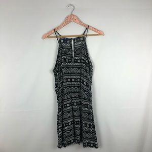 Aeropostale Black Tribal Print Strappy Midi Dress